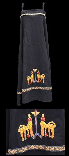 embroidered deers used on viking womens coats - Google Search
