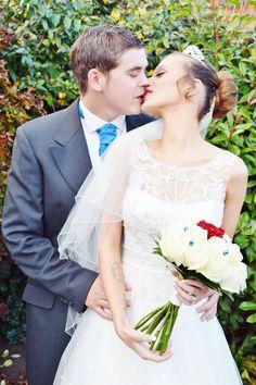 Newly weds. The kiss