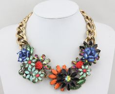 Choker Necklace Choker Statement Necklace MultiColor by Necklace21, $19.90