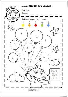 """""""Colorea con números y vocales"""" (Fichas de Educación Infantil)"""