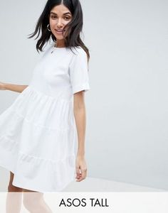 ASOS DESIGN Tall cotton smock dress with panels