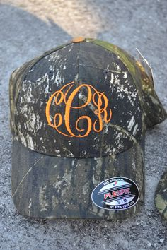 MONOGRAMMED Fitted Camo Baseball Hat Cap - Boy - Custom - Personalized. $20.00, via Etsy.