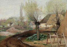 Laurits Andersen Ring (1854-1933), Route traversant un Village - 1891
