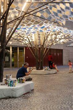 LIBERTAD Anupama Kundoo en colaboración con IAAC Plaza de Salvador Seguí | Libertad / Anupama Kundoo. Image © Marcela Grassi