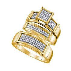 3/8CTW-Diamond FASHION TRIO SET
