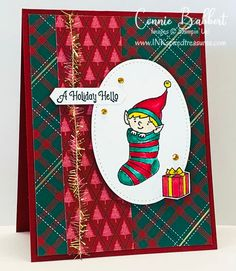 Saturday Blog Hop - National Coloring Day - Inkspired Treasures Chrismas Cards, Create Christmas Cards, Boxed Christmas Cards, Stampin Up Christmas, Christmas Elf, Handmade Christmas, Holiday Cards, Christmas Holiday, Fall Craft Fairs