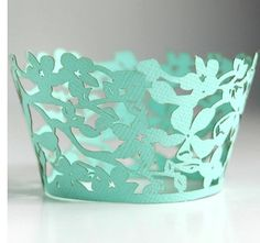 perfect floral tiffany blue cupcake wrapper!