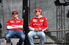 Kimi Räikkönen, Sebastian Vettel, Ferrari, Formule 1 Grand Prix van Australië 2016, Formule 1