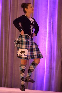 This pinned number looks like a US car plate number! Scottish Highland Dance, Drum Major, Country Dance, Irish Dance, Plaid Skirts, Tartan, Dancing, Punk, Rompers