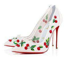 f09a0f492a54 Women Shoes - Cherrypump 100 Organza nappa Shiny Chiffon - Christian  Louboutin Sequin Shoes