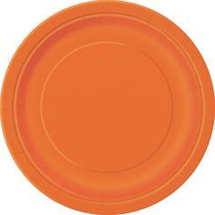 Pumpkin Orange Round Plate 7