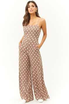 Product Name:Polka Dot Wide-Leg Jumpsuit, Category:dress, Price:48