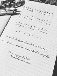 Handwriting sample requested by the lovely and based on a sample by Done with a Micron 01 and showcasing my love of vintage filters. Handwriting Examples, Pretty Handwriting, Handwriting Styles, Cursive Alphabet, Hand Lettering Alphabet, Improve Your Handwriting, Handwriting Practice, How To Write Neater, Bullet Journal School