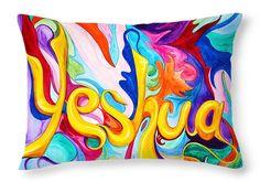 "Yeshua Throw Pillow 20"" x 14"""