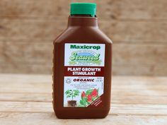 Made from pure liquid seaweed extract, Maxicrop seaweed fertilizer makes up to 100 litres. Help strengthen plants against pests, disease and weather. Approved for organic growing. Organic Liquid Fertilizer, Plant Growth, King Charles, Seaweed, Hot Sauce Bottles, Gardening, Pure Products, Healthy, Plants