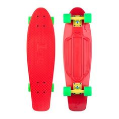 "Penny Nickel Red / Yellow / Green Complete Skateboard - 7.5"" x 27"" by Penny. $93.95. This Penny skateboard comes with Penny trucks & Penny wheels. No assembly required.. Save 28% Off!"