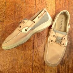 SPERRY Top Slider Linen and Oat Sperry Dock Shoes - Men's Size 7 Sperry Top-Sider Shoes