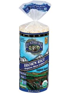 Organic Brown Rice Cakes, Lightly Salted. We mill the brown rice and then pop them into rice cakes right on the farm. That's why our whole grain brown rice cakes are so fresh and flavorful! #GlutenFree #GF #Organic