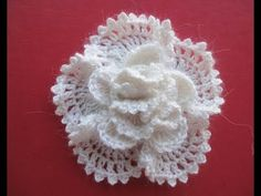 Объёмный цветок The volumetric Flower Crochet - YouTube