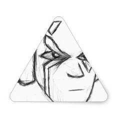 Headphones Addict Triangle Sticker