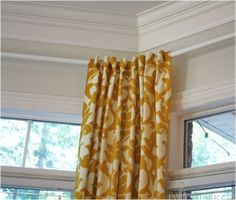 rubber rods back tabs u003d elegant diy bay window curtains