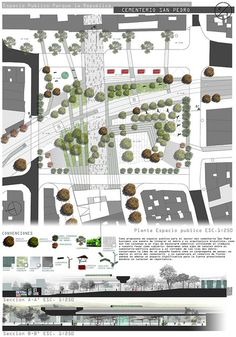 This unique photo is truly an extraordinary design concept. Landscape Design Plans, Landscape Architecture Design, Urban Landscape, Project Presentation, Presentation Layout, Architecture Panel, Architecture Graphics, Ideas Paneles, Planer Layout