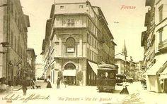 1930-1940: Via Panzani (right) & Via de Banchi (left) as seen from Via de Cerretani