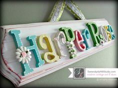 Custom name plaque made to order wall by SerendipityHillShop