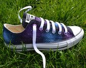 Galaxy Converse, Galaxy All Stars, Low Tops, Custom Converse, Nebula Converse, Painted Converse, Galaxy Sneakers, Galaxy Trainers, Chuck