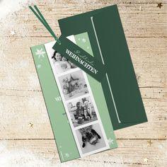 Weihnachtskarte 825 in Grün als Fächer mit Bändeli Swiss Guard, Xmas Cards, Christmas