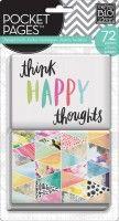 Think Happy Thoughts - Karty do Journalingu (72 szt.)