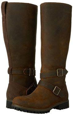 Amazon.com | Timberland Women's Wheelwright Wide Calf Tall WaterProof Boot, Dark Rubber Frontier, 9 W US | Knee-High