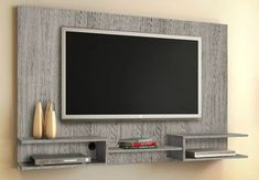 Creative Simple TV Wall Decor Idea for Living Room Design - Pajero is My Dream Tv Showcase Design, Tv Set Design, Tv Wall Design, Tv Wall Furniture, Backdrop Tv, Lcd Panel Design, Tv Wanddekor, Tv Wall Cabinets, Modern Tv Wall Units