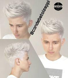 """34 Me gusta, 1 comentarios - Conde Hair Designer (@condehairdesigner) en Instagram: """"#platinado #blondehair #blonde #crazycolor #barbershop #condehairdesigner #zonasulpoa #ipanema…"""""""