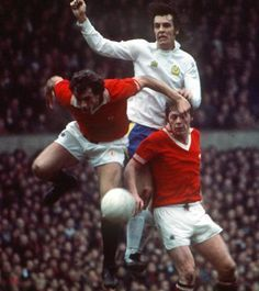 Man Utd 3 Leeds Utd 2 in March 1976 at Old Trafford. It took 2 defenders to stop Big Joe Jordan
