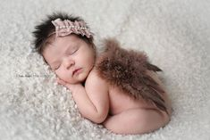 Brown Feather Angel Wings Newborn Baby Photo Prop | Beautiful Photo Props