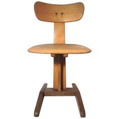 Rare Avant Garde 1930s Bauhaus Germany School Desk Chair, Signed | 1stdibs.com