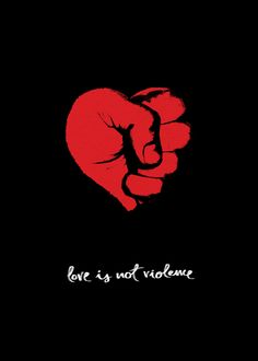 Love Is Not Violence // Cartel / Poster by Roberto Albares, via Behance