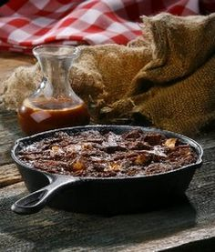 Double Chocolate Bread Pudding with Bourbon Salted Caramel Sauce - this will be tried next week!