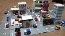 ミニカー用の道路 | 手作りおもちゃで子育て