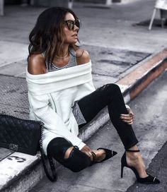 October 2017 Long Layers - Top: Topshop Tank: Frank & Eileen Jeans: Citizens of Humanity Shoes: Alexander Wang Mode Outfits, New Outfits, Fall Outfits, Casual Outfits, Fashion Outfits, Fashion Mode, Womens Fashion, Fashion Trends, Estilo Rock