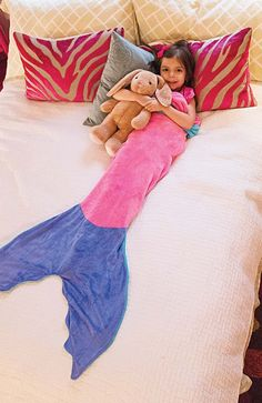 Mermaid Blanket by Blankie Tails - Pink & Periwinkle (Child/Youth 3-12 Years Old) - Blankie Tails - 5