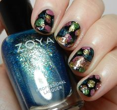 Zoya Bubbly Bubbles Nail Art I like this color but not too into the design