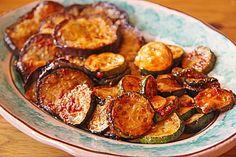 Portugiesische Auberginen und Zucchini