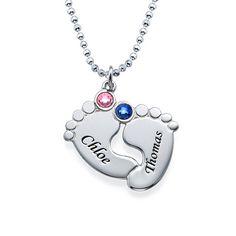 Personalized Baby Feet Necklace   MyNameNecklace