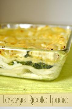 Recette facile lasagne ricotta epinard