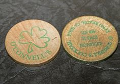 Drink tokens for O\'Connell\'s Cocktails in Long Beach #stpatricksday