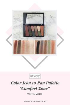 "Wet n Wild - Color Icon 10 Pan Palette ""Comfort Zone"" Wet N Wild, Comfort Zone, Swatch, Eyeshadow, Beauty, Blog, Eye Shadow, Eye Shadows, Blogging"