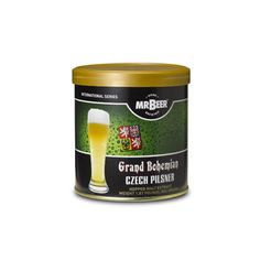 Grand Bohemian Czech Pilsner NET WEIGHT 1.87 POUNDS (850 GRAMS) This recipe will produce 2 gallons of beer in approximately 2 weeks.   A characteristically bright golden pilsner brewed using premium pale malt, displaying traditional spicy Saaz hop aroma and a dry, refreshing bitter finish.