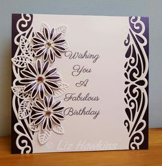 Image result for Sue Wilson Dies - Finishing Touches - Delicate Daisies Open cards